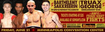 Barthelemy to Meet Sakkreerin in IBF No.1 Eliminator on ESPN's Friday Night Fights