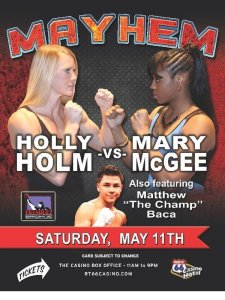 Mary McGee prepared to spoil Holly Holms swan song