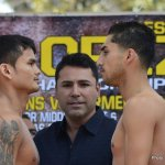 Weigh In Photo Gallery: Maidana Lopez, Angulo Lara, Charlo Hopkins