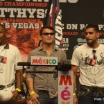 THE ONE Weigh in!  Mayweather Canelo, Garcia Matthysse, Smith Molina & Theophane Cano