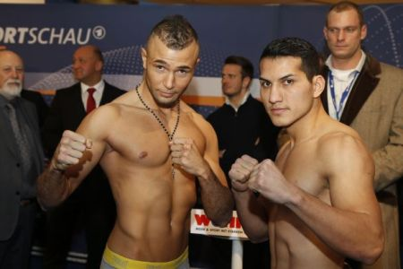 Abraham vs Bouadla Weigh In Results   Video