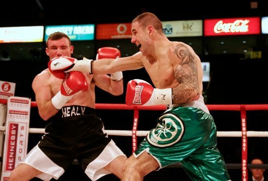Hutch vs Healy straight right John Hutchinson overcomes Healy in Fight of The Night encounter