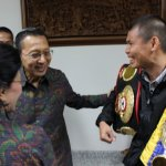Photos: Chris John meets Indonesian vice president Boediono