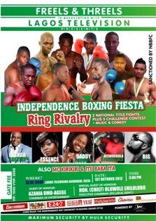 Nigeria Independence Day Boxing poster Independence Day Boxing show to thrill Nigerians Monday