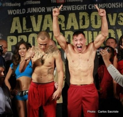 Mike Alvarado vs. Ruslan Provodnikov: Weigh in results