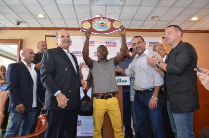 Photos: Guillermo Rigondeaux gets belted by WBO President in Miami