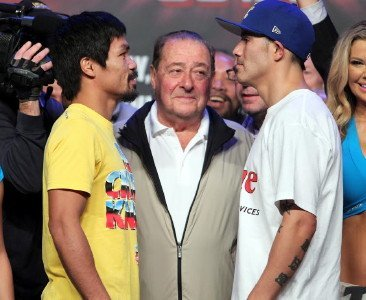 Weights: Pacquiao 145, Rios 146.5
