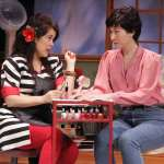 "Truvy (Hiwa Bourne) and Shelby (Ruth Coughlin) in East West Players' ""Steel Magnolias"""