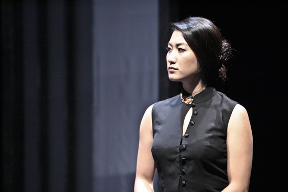 Kara Wang plays Vice Minister of Culture Xi Yan in East West Players theatrical production of Chinglish written by David Henry Hwang. Photo by Michael Lamont.