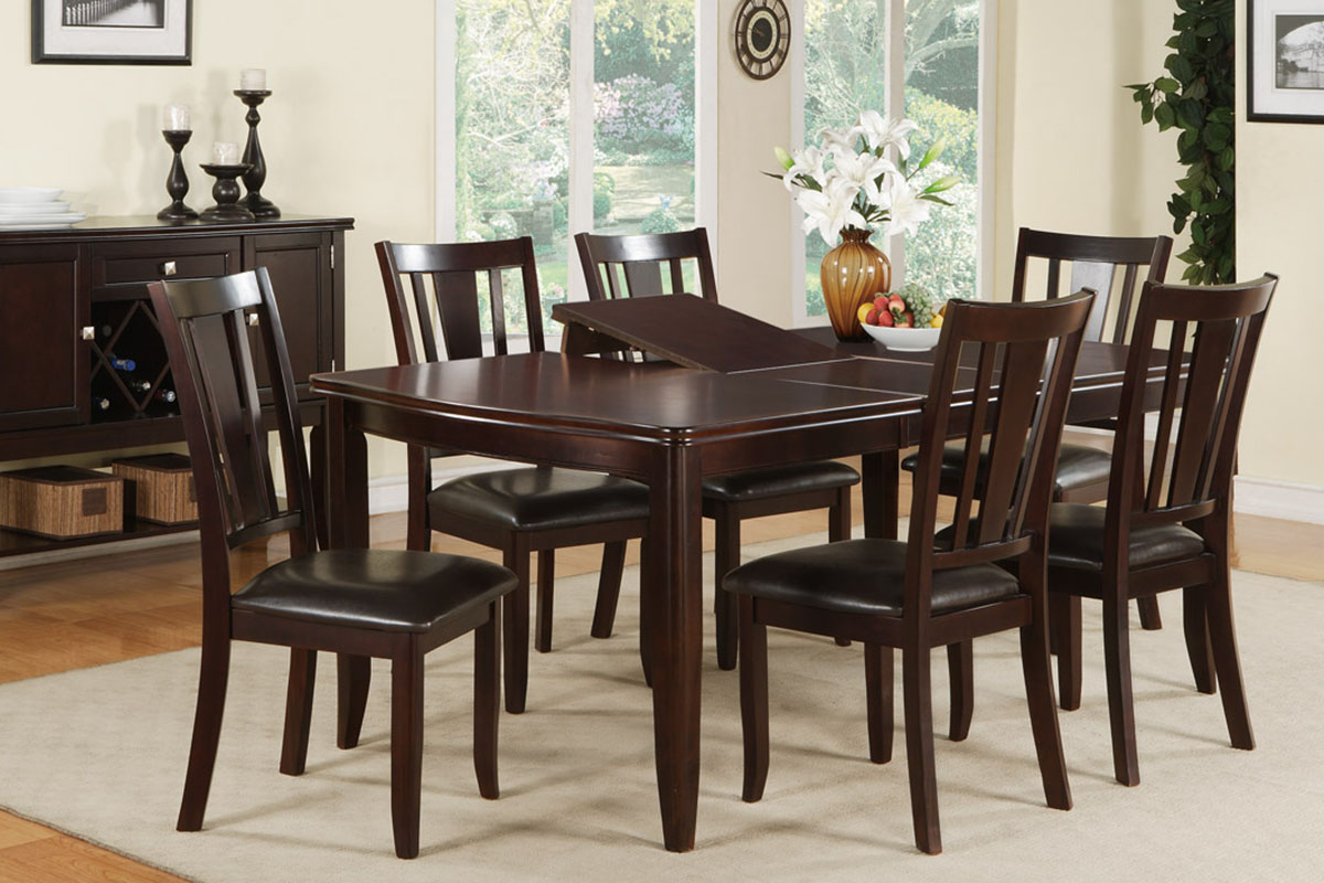 7 Piece Wooden Dinning Table Set p kitchen table chairs