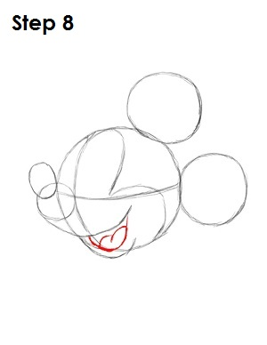 Draw Mickey Mouse Step 8