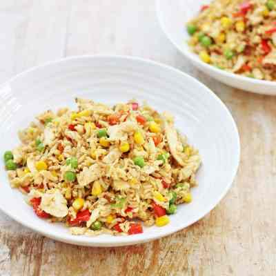 Leftover Chicken and Egg Fried Rice - Easy Peasy Foodie