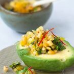 Avocado with Caribbean Pineapple Salsa