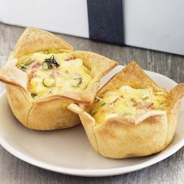 Healthy Breakfast Ideas - Ham and Cheese Pies