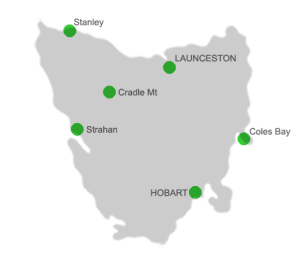 Tasmanian Accommodation Locations