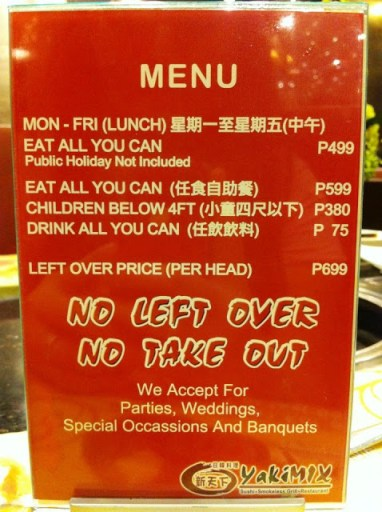 yakimix buffet price