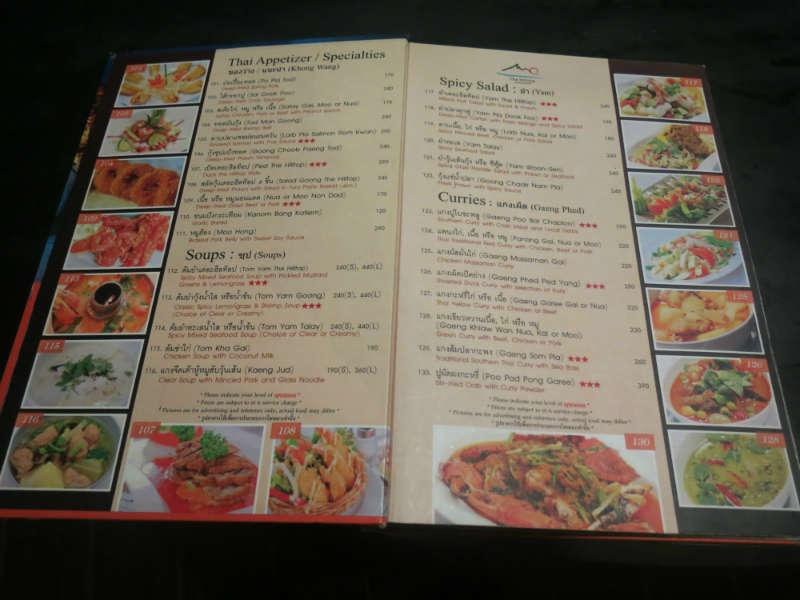 Krabi the Hill Top Menu 1 small