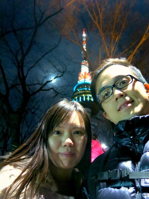 Evan and Raevian at N Seoul Tower