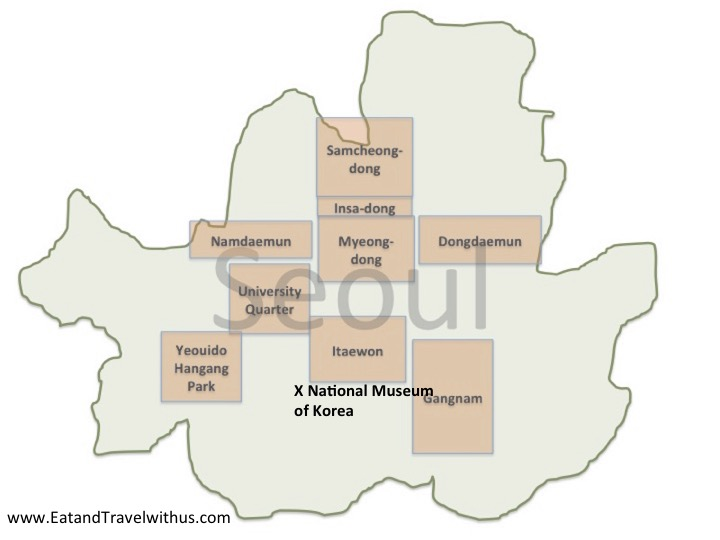 National Museum of Korea Marked on a Rough Map