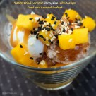 Panko Fried Coconut Sticky Rice with Mango Curd and Coconut Sorbet