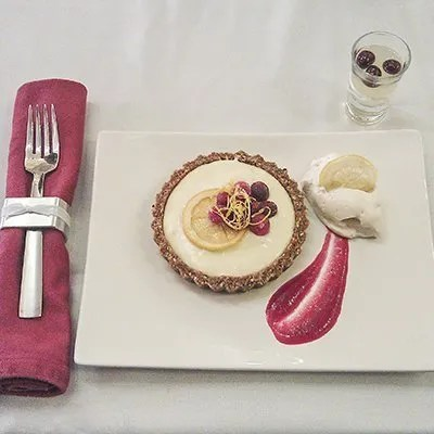 LaRocco's winning dish Cranberry Limoncello Tarts in a Gingersnap Hazelnut Crust