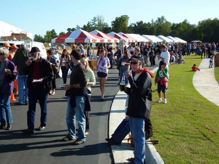 Lots of folks at the Pepper Festival in Pittsboro