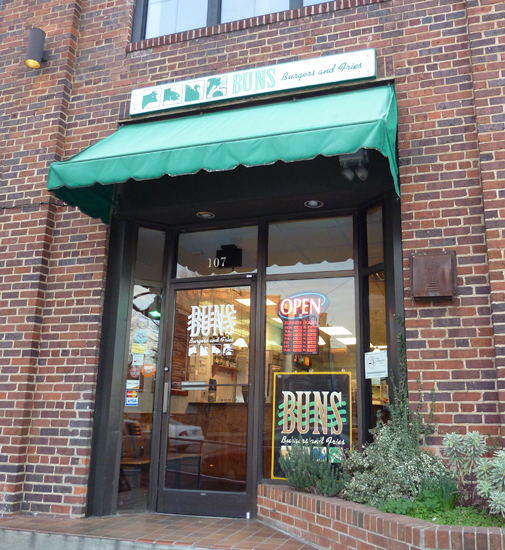 storefront of Buns in Chapel Hill