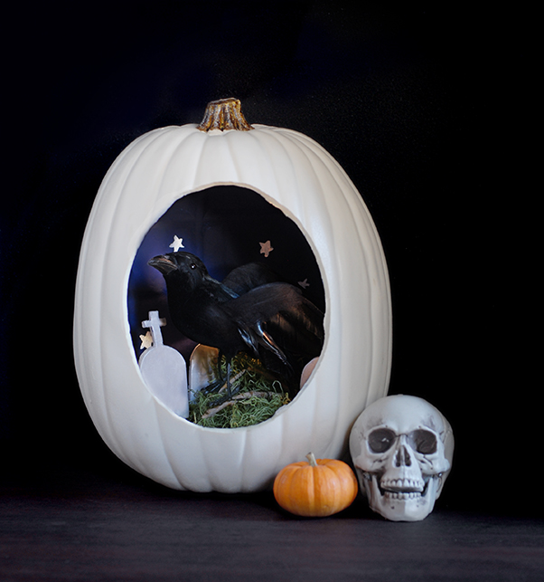 craft pumpkin diorama