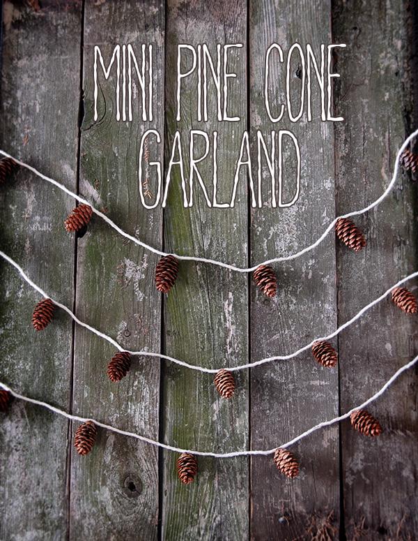 mini pine cone garland