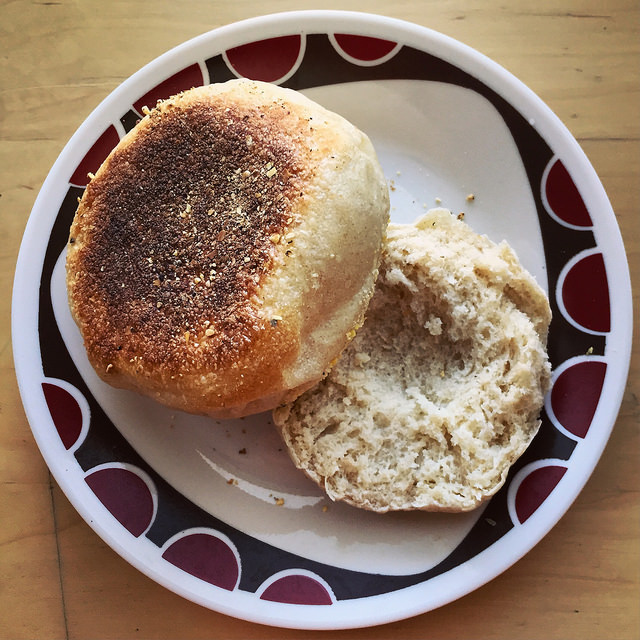 english muffin crumb