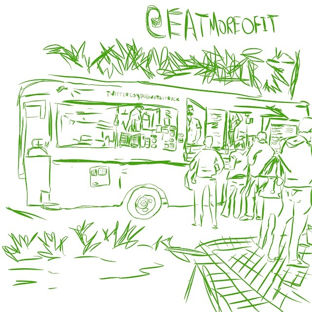 Orlando Food Truck Big Wheel Truck Sketch at East End Market