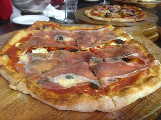 Pizza at Carlei green vineyards and winery