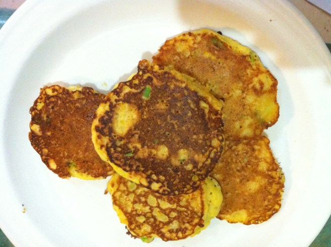 Spring Onion and Sweet Corn Fritters