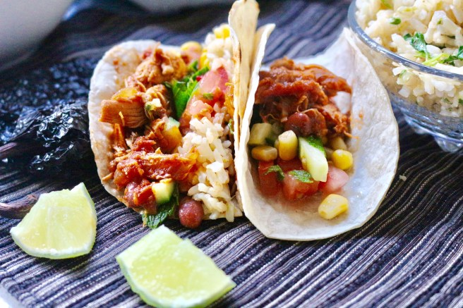 Slow Cooked Chicken Burritos