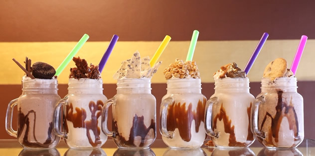 A view of the all the milkshakes made by My Sugar restaurant. Photo courtesy of the restaurant.