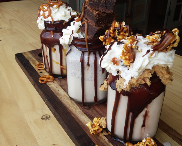 Three milkshakes at the Flavour Cafe. Photo courtesy of the restaurant.