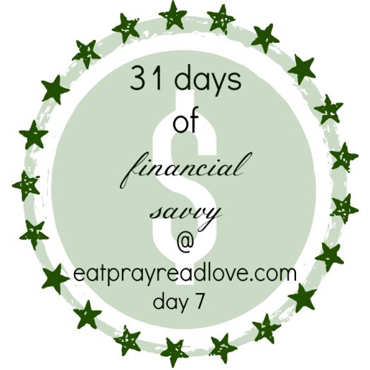 31 days of financial savvy at eatprayreadlove.com