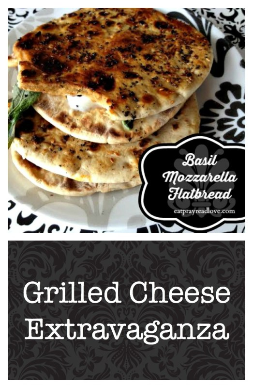 basil mozzarella flatbread- part of the grilled cheese extravaganza