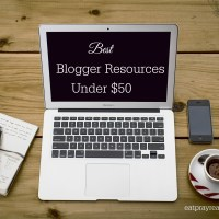 The Under $50 Blogger Resources List
