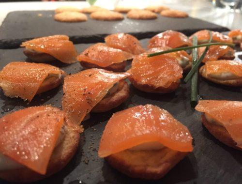 Salmon blinis