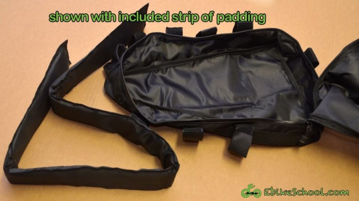 triangle battery bag with padding