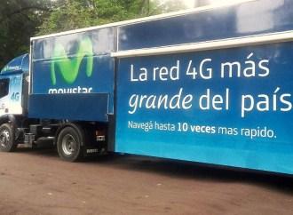 Movistar y LG realizarán demostraciones 4G en un camión que recorrerá Argentina