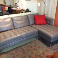 "Leather sectional 82"" $2799"