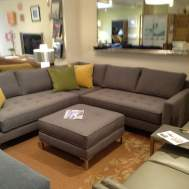 "Draper sectional. 94""x94"" Floor model $3995. With matching ottoman $4724"