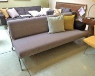 Debonair sofa/bed mixed dance grey floor model $1069
