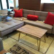 Dublexo sofa/bed & ottoman floor model as shown $2108