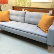"Dual fullXL sleeper sofa in soft pearl Floor model  $1995. 91""W x 36""D x 28""H"