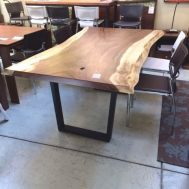 $1799 Solid live edge Parota wood dining table