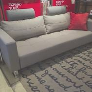 Cassius deluxe excess lounger queen bed medium grey classic fabric and two added head rest.  $2499 as shown