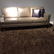 "Moroni 82"" leather sofa $1995"